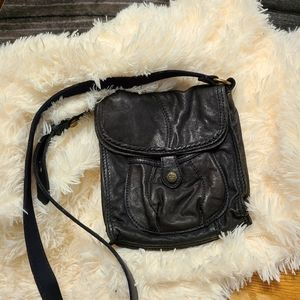 Lucky Brand soft leather fold down crossbody